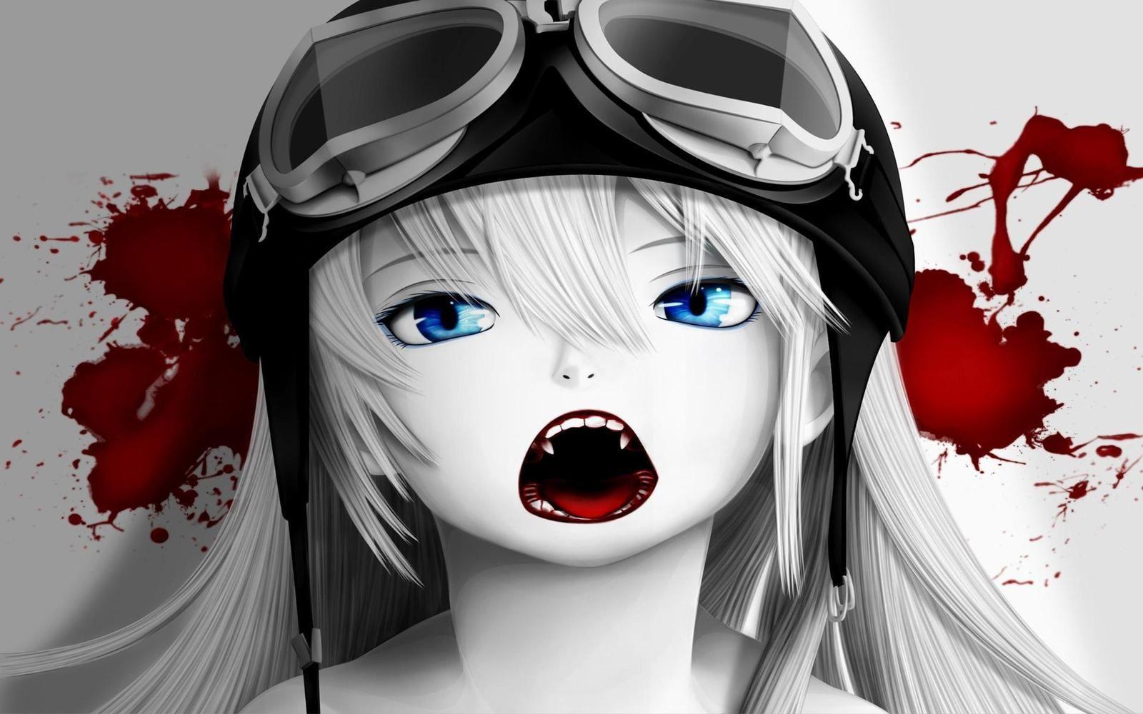 Bloody anime vampire girl