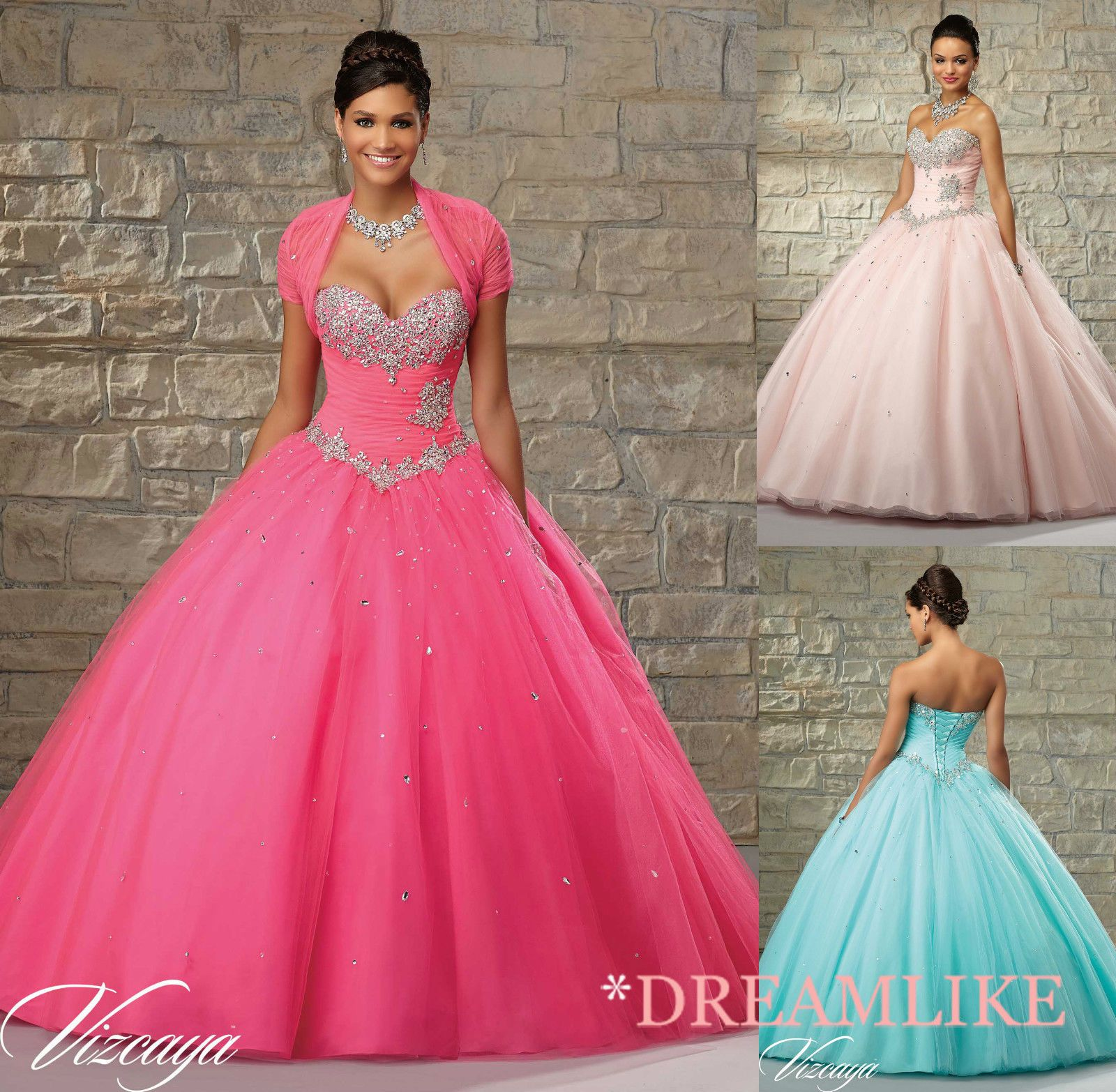 Beautiful Evening Prom Party Quinceanera Pageant Dress Ball Gown Sz ...
