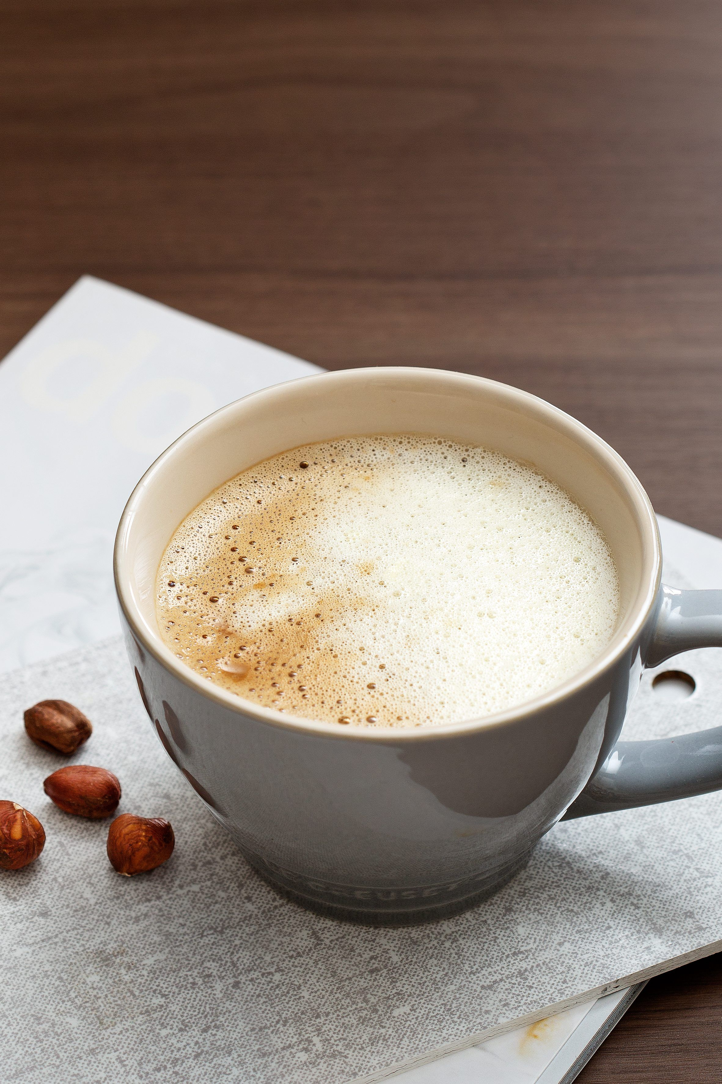 Coffee with cream gives you a warm, soft and filling start to your day, works as a mid-day pick-me-up or even as a dessert.