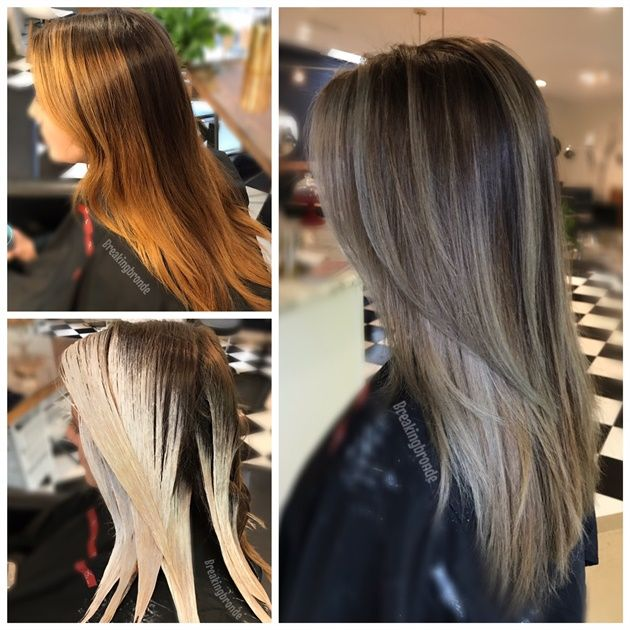 COLOR CORRECTION: Banded and Brassy To Ash Melt - Hair ...