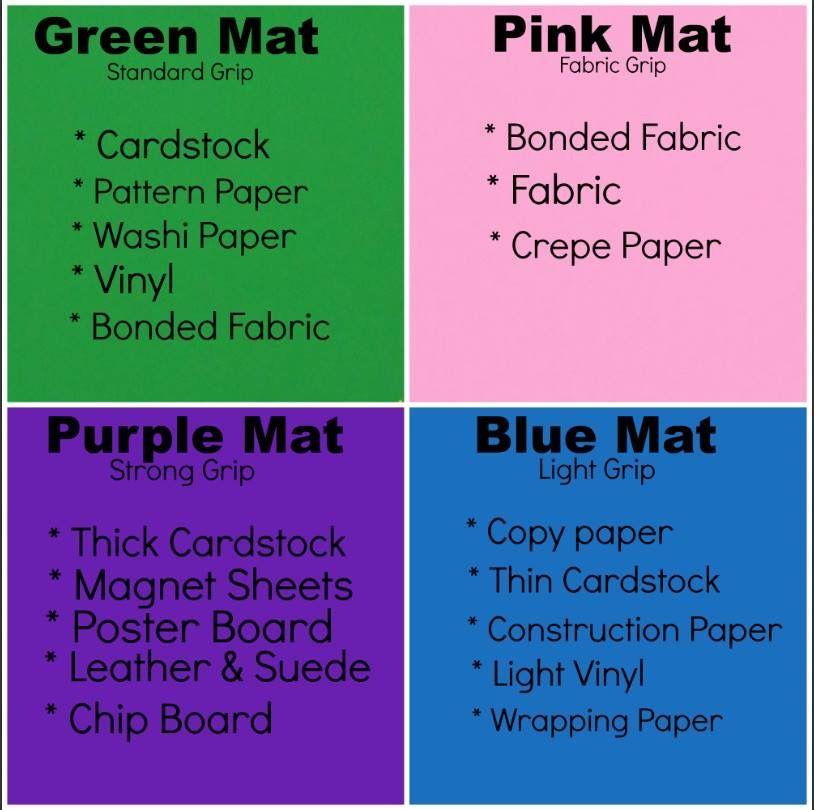 Mat Cheat Sheet Cricut Mat Cricut Projects Vinyl Cricut Explore Projects