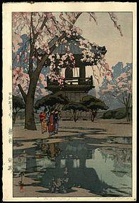 Hiroshi Yoshida   In a Temple Yard