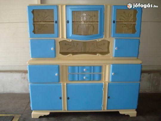 Omas Küchenbuffet ~ Kredenc Üveges felújítandó konyhaszekrények pinterest
