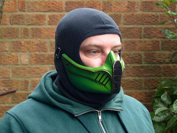 Mortal Kombat Reptile Green Cosplay Mask In By Hiddenassassins