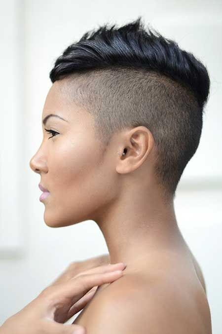 Womens Mohawk Hairstyle Short Haircuts In 2019 Pinterest