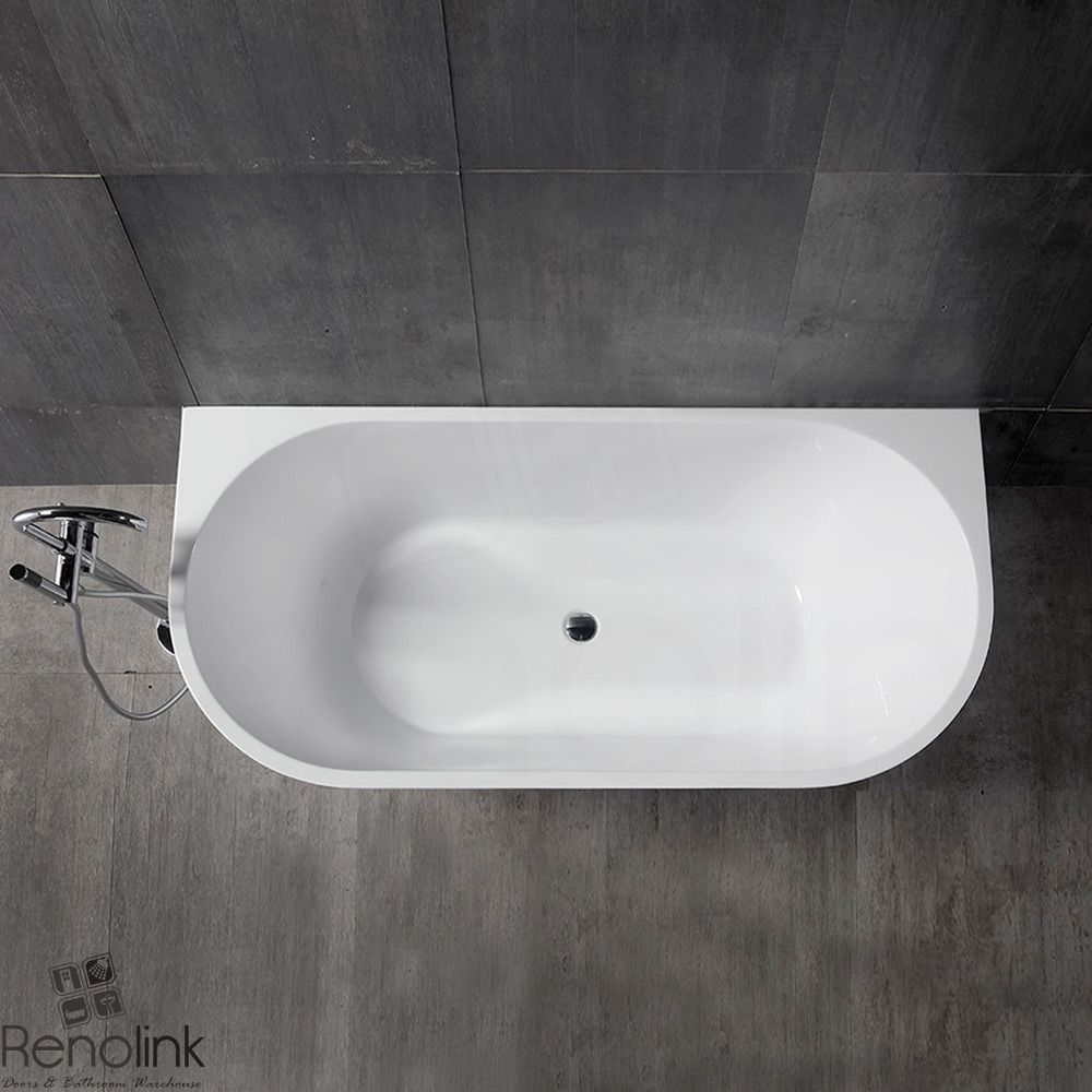 Details About Bathroom Free Standing Bath Tub 1700x800x600 Back To
