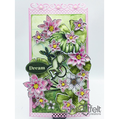 Gallery | Frog Hanging With Pink Lilies - Heartfelt Creations