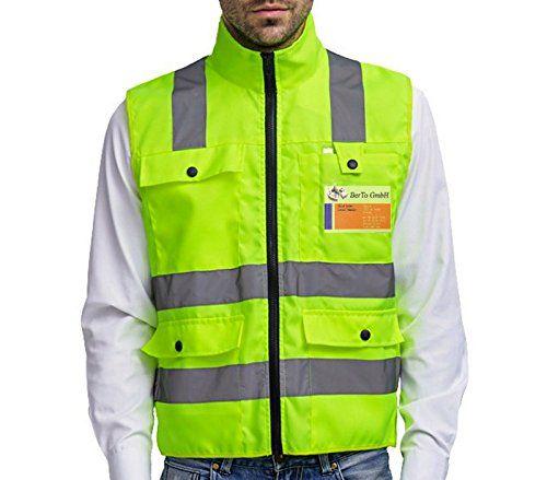 b842e4d0666 Profesional Chaleco reflectante Chaleco de seguridad Advertencia Chaqueta  Neon Amarillo Señal Chaleco arrugado libre reflector rayas