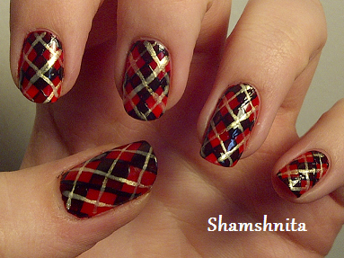 Sweater plaid plaid fancy nail art and daily nail simple plaid this blogger has tutorials for her nail art prinsesfo Choice Image