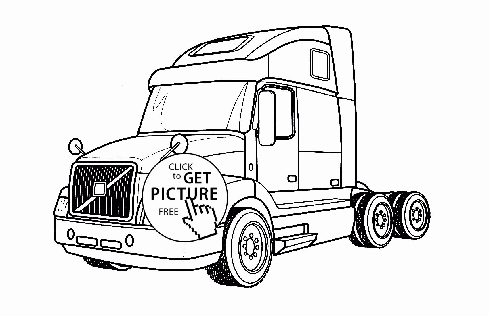 Semi Truck Coloring Pictures
