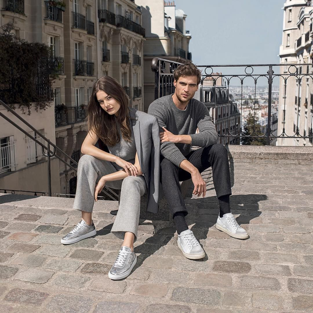 His and hers #HOGAN #H340 #sneakers from the #AW1718 Advertising Campaign featuring @georgealsford and @ophelieguillermand #HoganSneakers