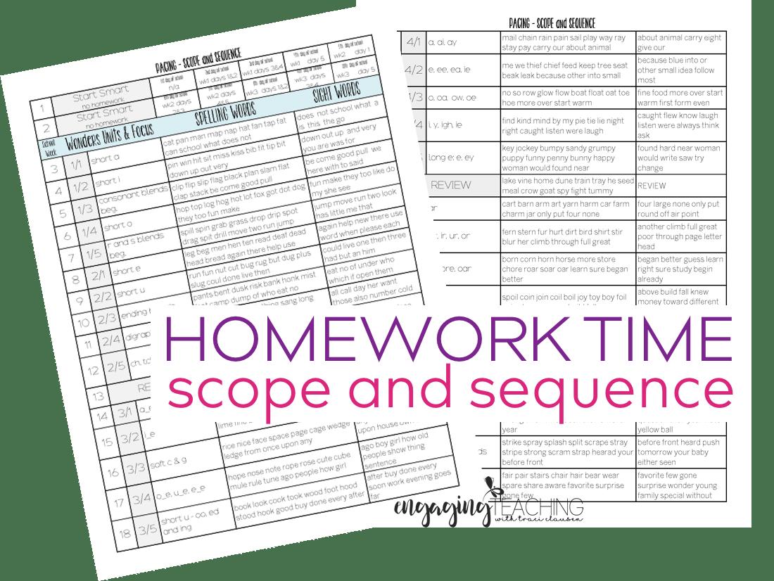 Homework For Primary Grades
