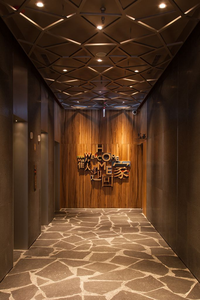 Home Hotel Da An 1099 Wooden Ceiling Design Hotel Lobby Design