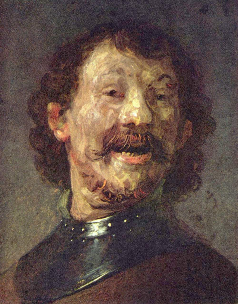 Rembrandt S Early Portrait Of A Laughing Man From The Mauritshuis Rembrandt Maan Schilderij Rembrandt Schilderijen