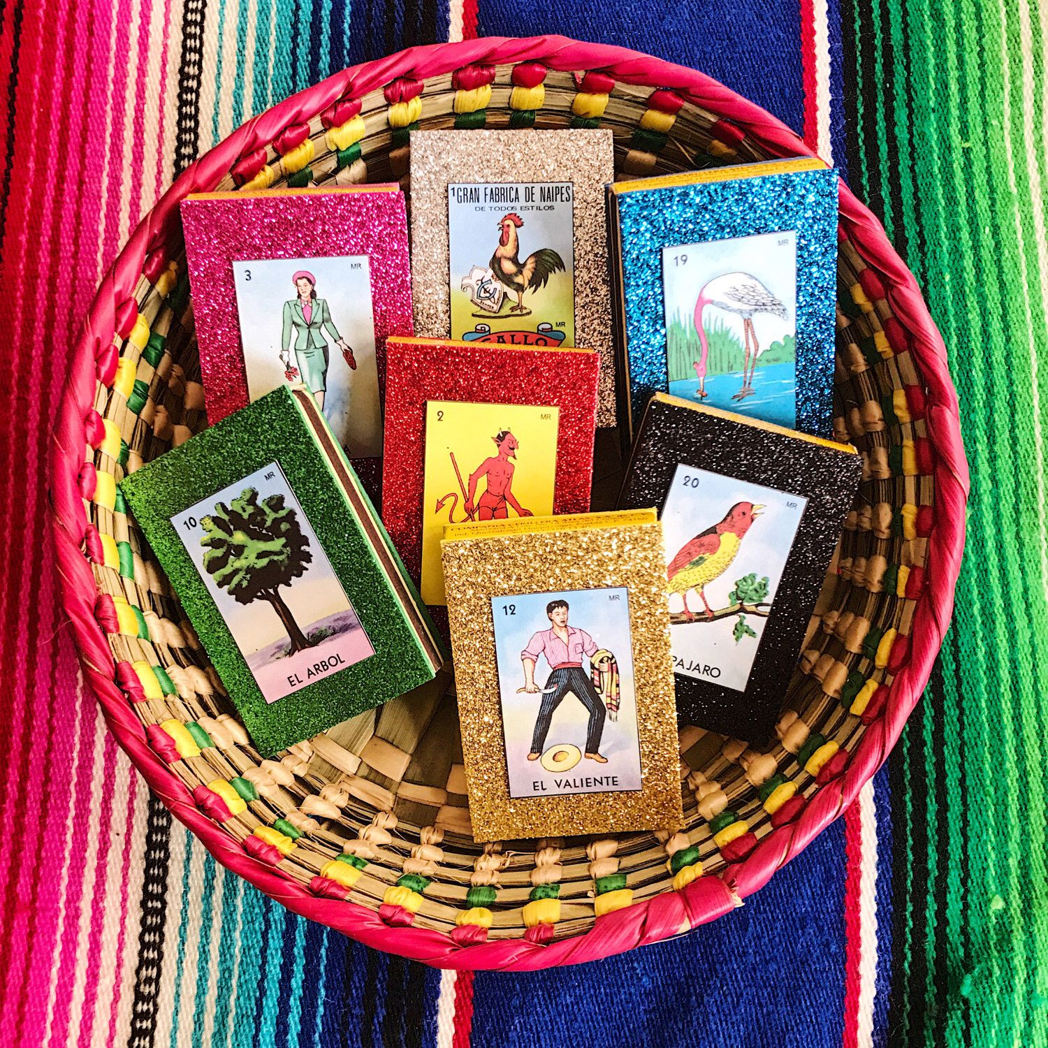Mexican Loteria Wedding Favors, Loteria Match Box, Mexican