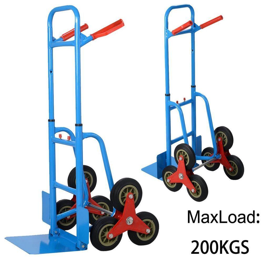 Heavy Duty Cart Carrier Dolly Wheel Stair Climber Sack Pack