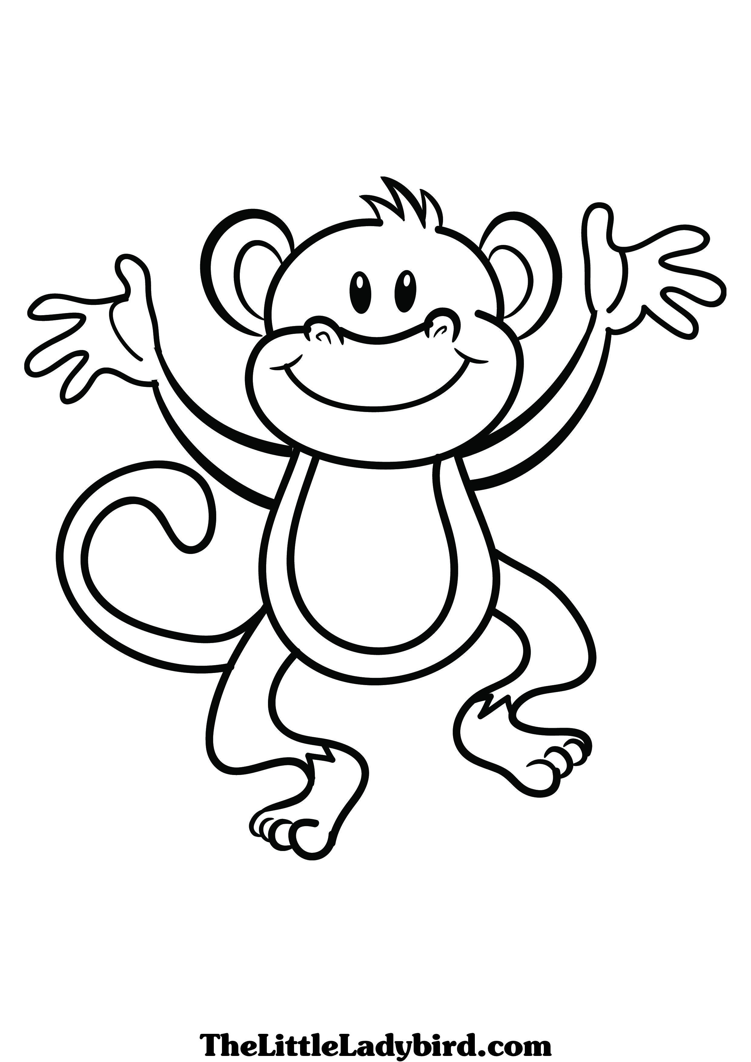 Monkey Coloring Page Free Large Images Monkey Coloring Pages Animal Coloring Pages Animal Templates