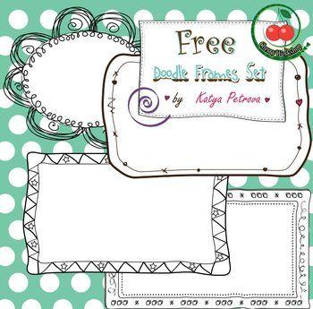 Borders | TpT FREE LESSONS | Doodle frames, Doodles, Free