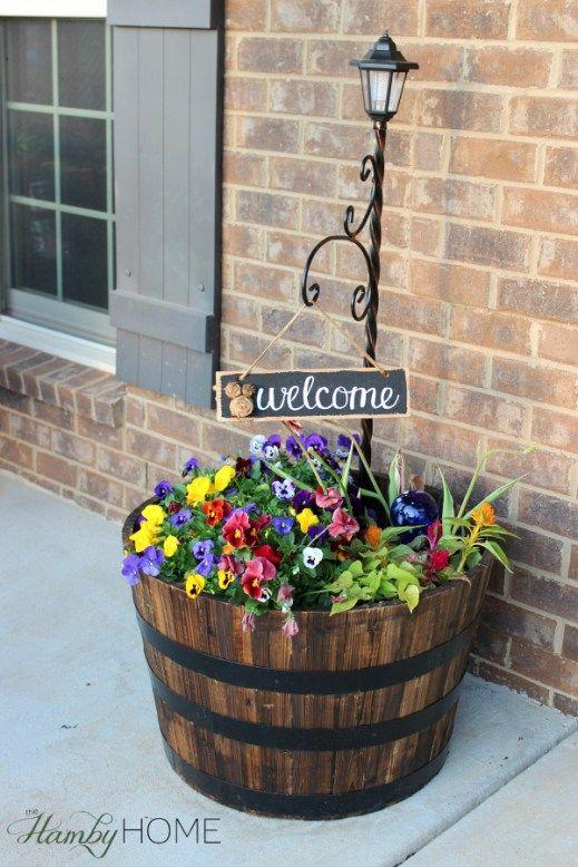 spring front porch decor rustic
