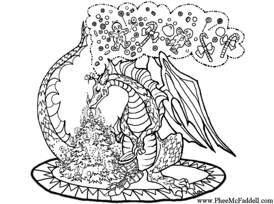 Dragon Christmas Dragon Coloring Page Coloring Pages Horse Coloring Pages