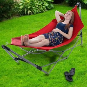 stalwart 8 ft  portable hammock with 9 ft  frame stand and carrying bag stalwart 8 ft  portable hammock with 9 ft  frame stand and      rh   pinterest