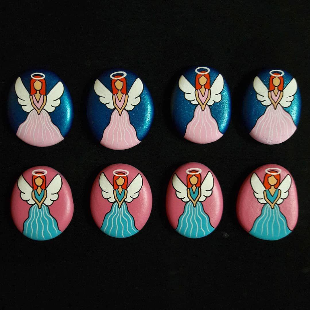 Taşboyama Stonepaint Magnet Melek Angel Hediyelik Sipariş