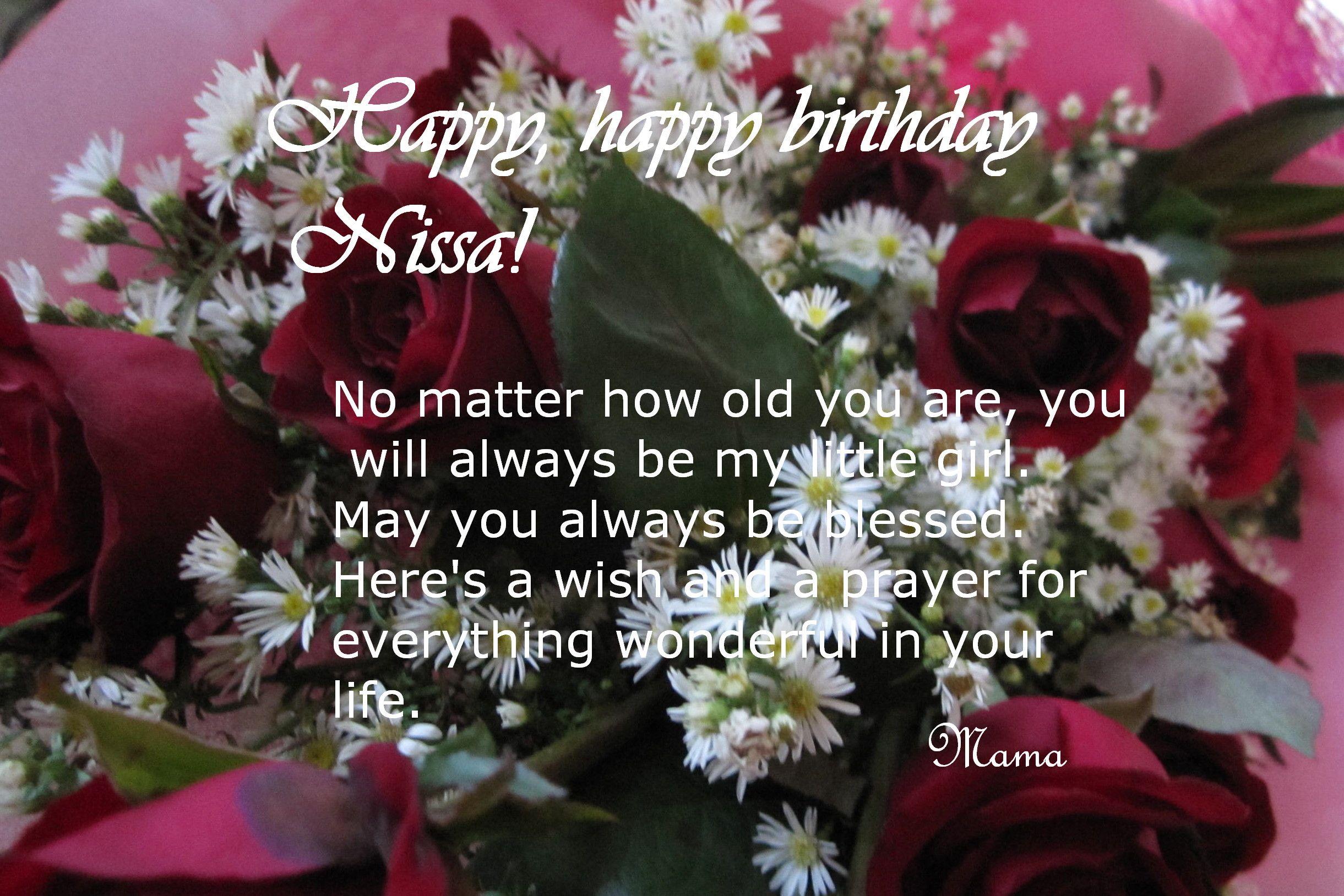 Happy Birthday Mommy ~ Happy birthday nissa! happy birthday mommy and happy birthday