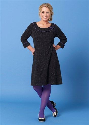 f7f90a9f Charles dress DAGNY Purple / ultranice vinterkjole med flot krave og lilla  detaljer Kjoler Til Arbejde