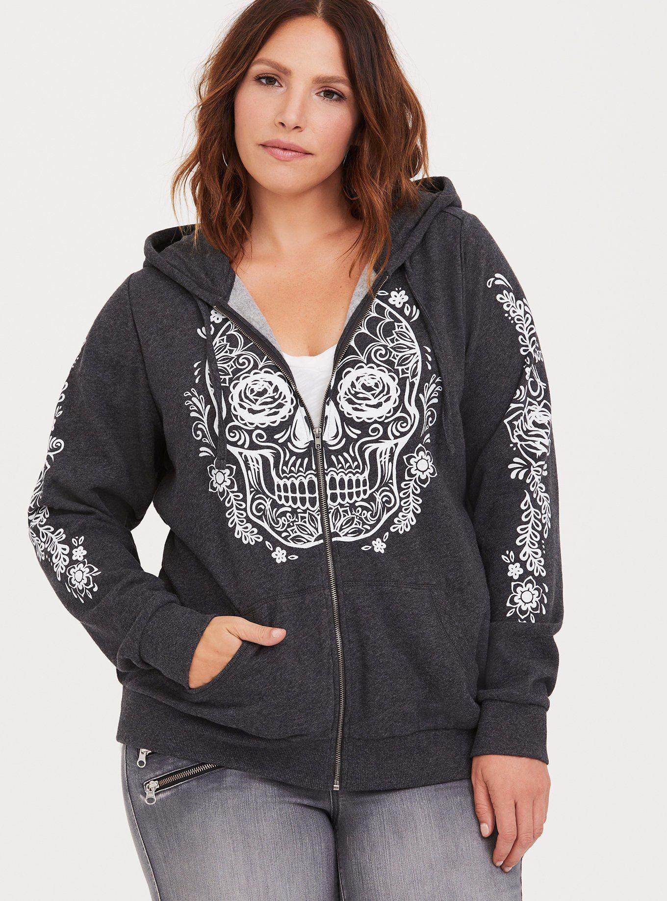 Sugar Skull Rose Girls Warm Sweatshirt Pullover Hoodie