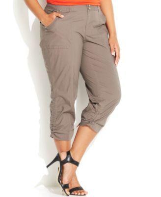 be1ba6511e6d2 INC International Concepts Plus Size Ruched Cargo Pants