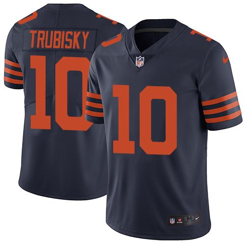 Kids' Nike Chicago Bears Customized Blue With Orange Limited Jersey