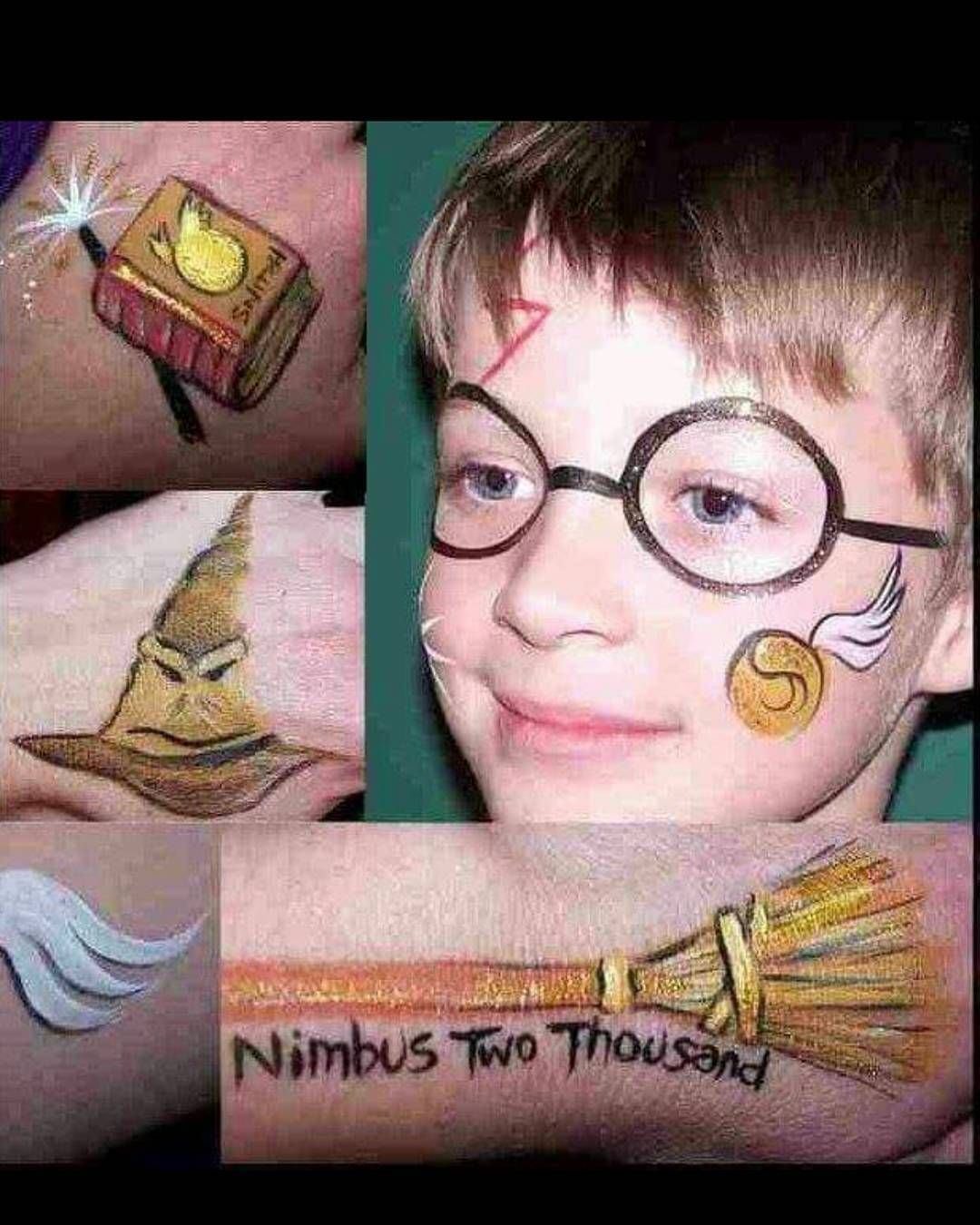 Pin By Veronika Rajn On Narisovat Lica Girl Face Painting Face Painting For Boys Harry Potter Face
