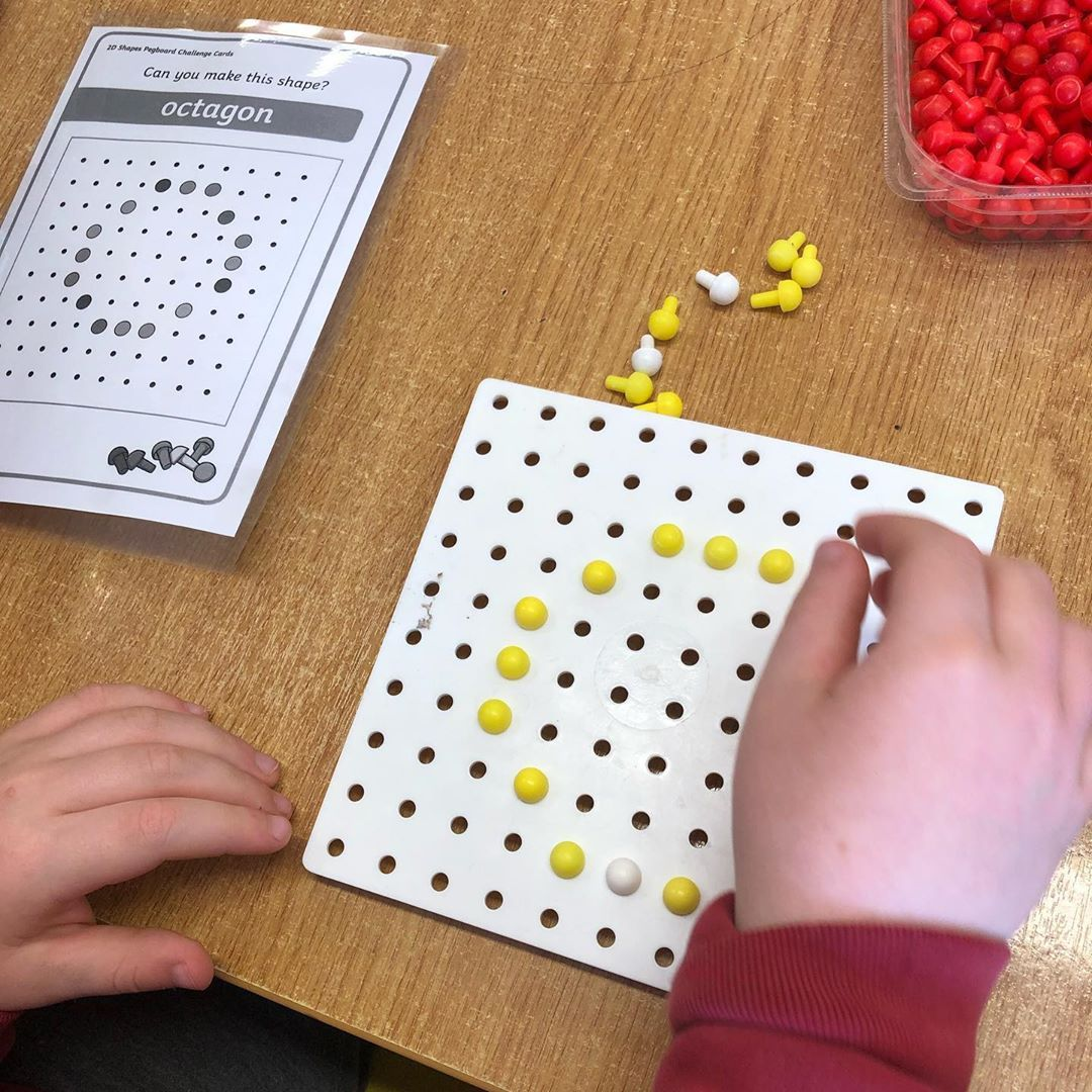 Pegboard Patterns Integrating Fine Motor Skills And