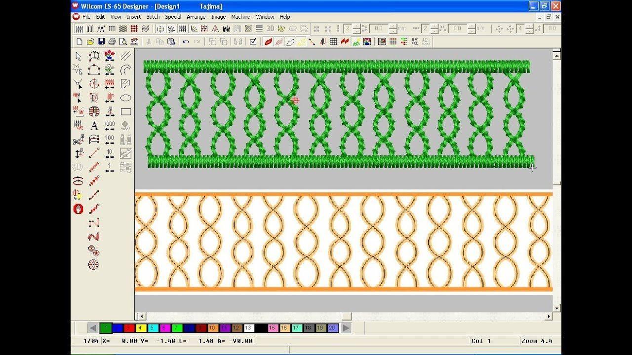 Wilcom Emboridery Design Tutorel Computer Embroidery Design Embroi