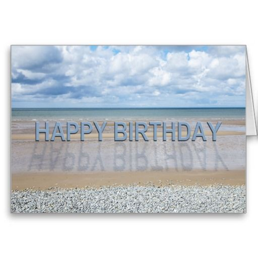Beach Scene Birthday Card With 3d Letters Zazzle Com With
