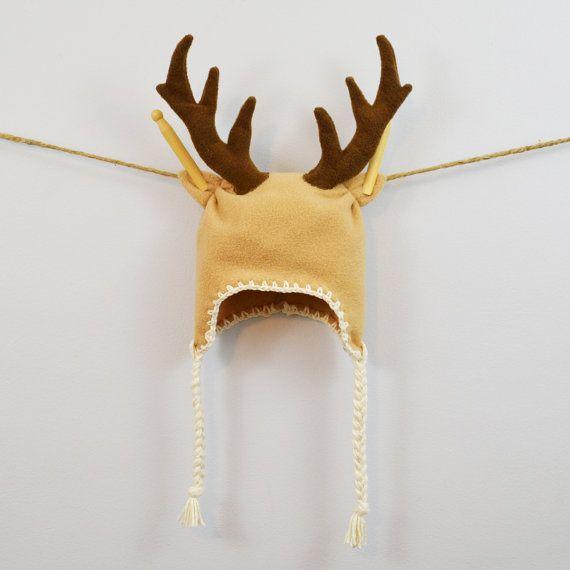 b3cd72f04b6 Baby   Toddler   Kids   Adult Hat - Deer Fleece Hat on Etsy