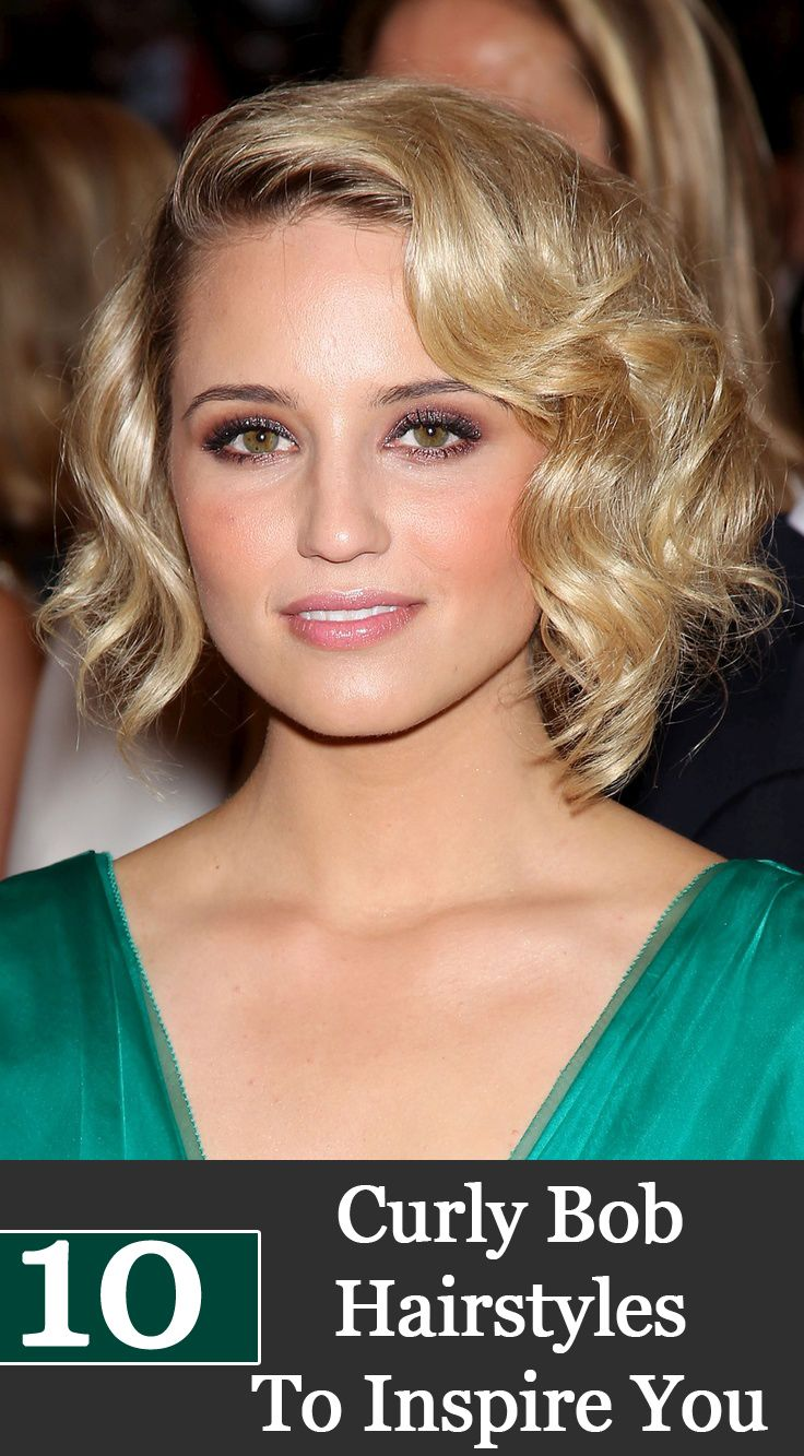 50 Chic Curly Bob Hairstyles Hairstyles For Women Pinterest