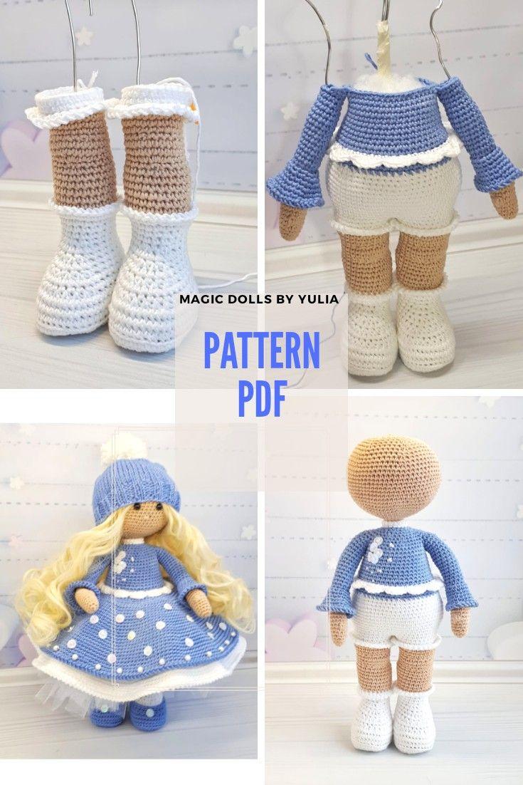 crochet doll pattern, diy amigurumi doll, cute handmade doll #instructionstodollpatterns