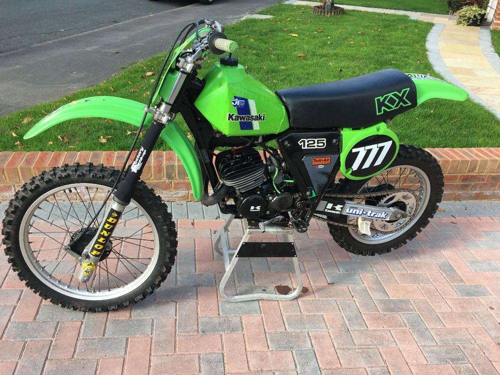 eBay KAWASAKI KX 125 1980 Air Cooled Motocross Bike