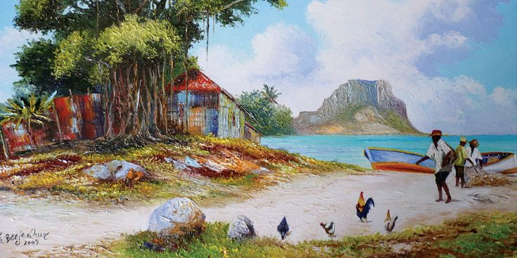 Mauritius Can T Make Out The Artist S Name Can You Mauritius Art Indian Artist