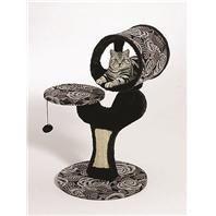 Feline Nuvo Salvador Cat Furniture - Black & White    Price:  $60.95