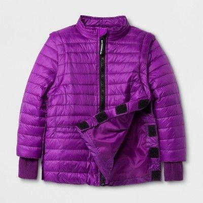 94b6ffef3 Toddler Girls  Sensory Friendly Long Sleeve Puffer Jacket - Cat ...