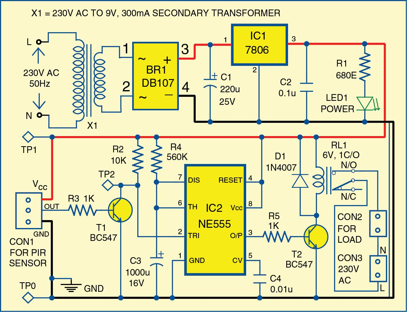 Seven Colour Led Lighting Presented Here Is A Simple Circuit That Chaser The Leds In This Produce Chasing Pattern Uses Six Red Green And Blue Rgb To Generate Running Light E