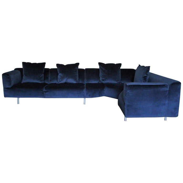 Pin On Blue Velvet Sofa Living Room Ideas