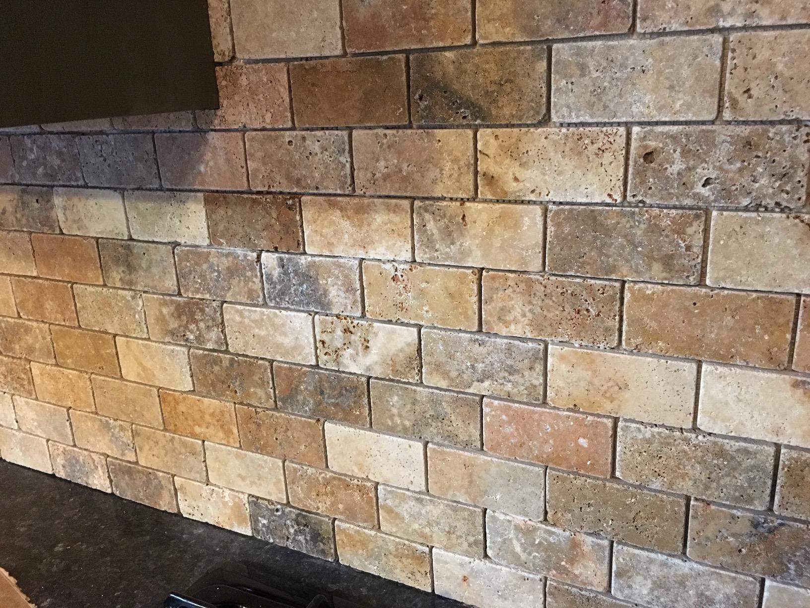 Amazon Com Customer Reviews Scabos Travertine 2 X 4 Brick Mosaic Tile Tumbled 6 X 6 Sample Travertine Mosaic Tiles Travertine Mosaic Tiles