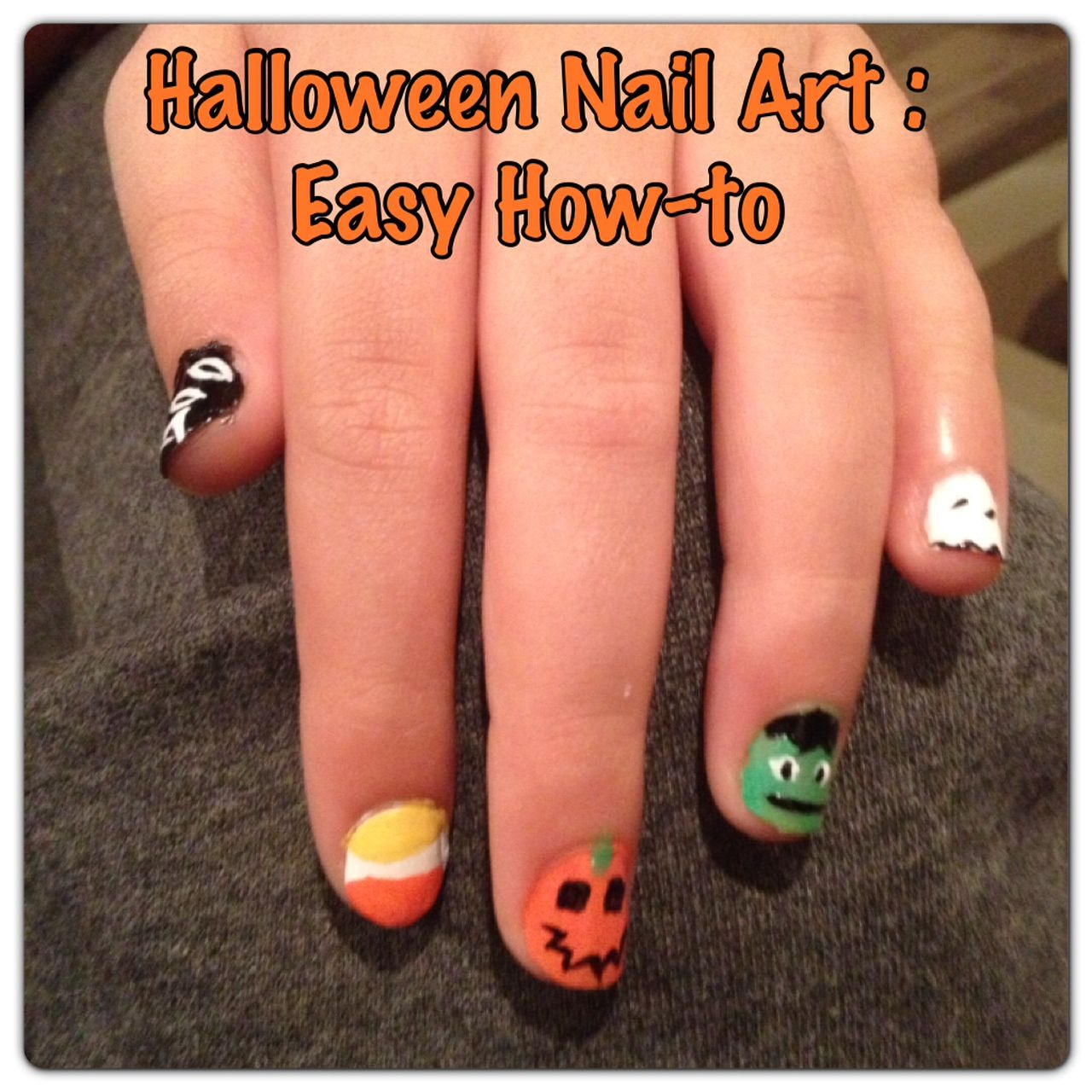 Halloween Nail Art: A simple How-to for 5 Fun Designs