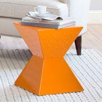 Riley End Table in Orange