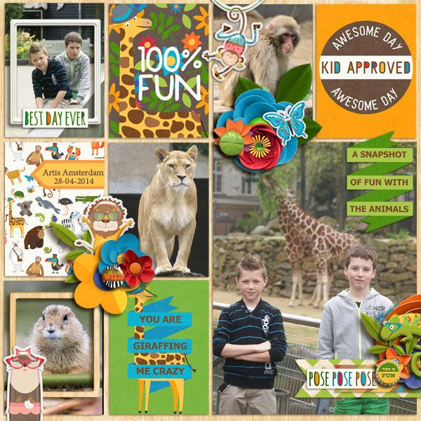 Kit: Hipster Zoo by Clever Monkey Graphics http://store.gingerscraps.net/hipsterZoo-bundle-by-Clever-Monkey-Graphics.html  Template: Miss Mel Designs