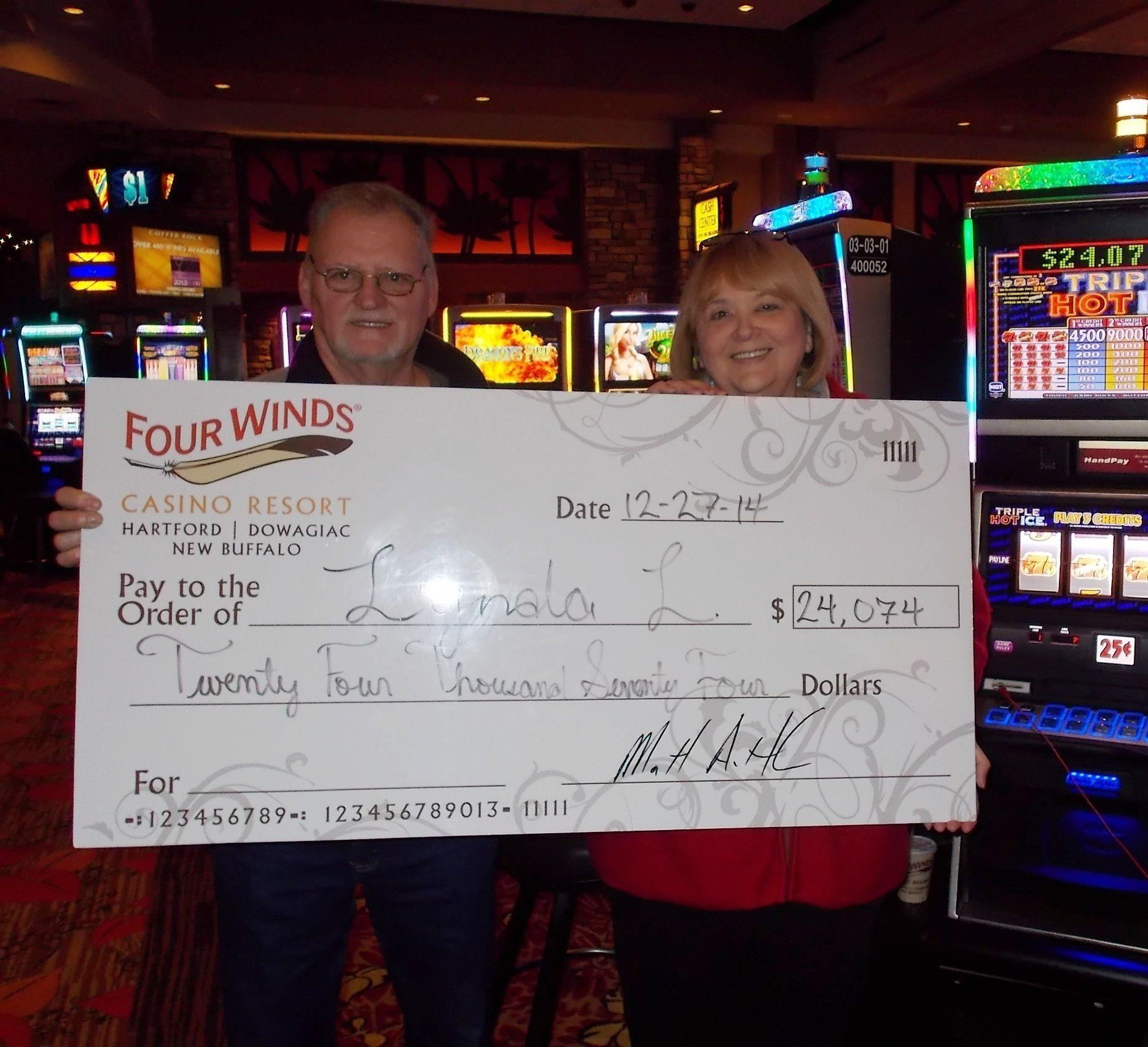 Wow Jackpot 25 Cent Machine Winning Congratulations Dowagiac Jackpot Casino New Buffalo