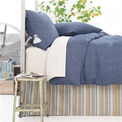 Pine Cone Hill Chambray Linen Ink Duvet Cover